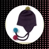 Ethically made luxury peruvian aplaca wool pom pom hat.