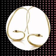 Amisha Ethical Jewellery. Snake earings by ethical label Amisha.