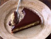 popina organic chocolate and chestnut tart