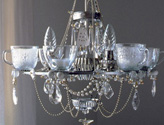Eco-friendly Light, Recycled Glass Chandelier