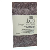 Bod Goddess Bath Salts Sachet with jasmine, vanilla and mandarin. Perfect natural beauty product for stocking filler.