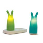 2 energy-efficient, portable LED lamps by Candeloo, perfect for kids bedside.