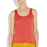 Chinti and Parker's bright coral organic cotton tank top.