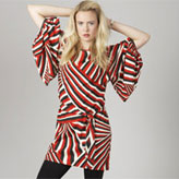 Eley Kishimoto organic and fairtrade cotton kimono dress for ethical retailer People Tree