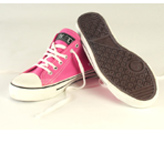 Fairtrade, pink organic cotton Converse looky-likies by Ethletic