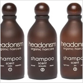 Headonism natural shampoos come in 3 divine scents and are free from harsh detergents, synthetic fragrance and other chemical nasties.