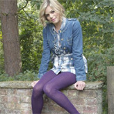 Jonathan Aston organic cotton tights in a fab purple colour.