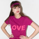 Organic cotton 'Love' tshirt by ethical fashion pioneer Katharine Hamnett. Buy Katharine Hamnett T-shirts at StyleWillSaveUs.com