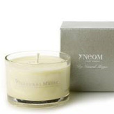 Neom's new mini scented candle, natural wax with organic orange blossom.