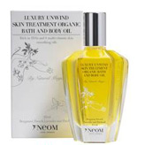 Luxury organic bath oil by Neom with Jasmine, Ginger, Sandalwood