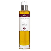 Ren's gorgeous smelling cult Moroccan Rose Otto Body Oil with ultra nourishing ingredients argan oil, macadamia nut oil and cranberry seed.