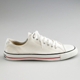 White organic and fairtrade Converse lookalikes by ethical footwear brand Ethletic.