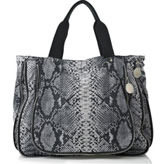 Stella McCartney leather-free python print nylon tote bag